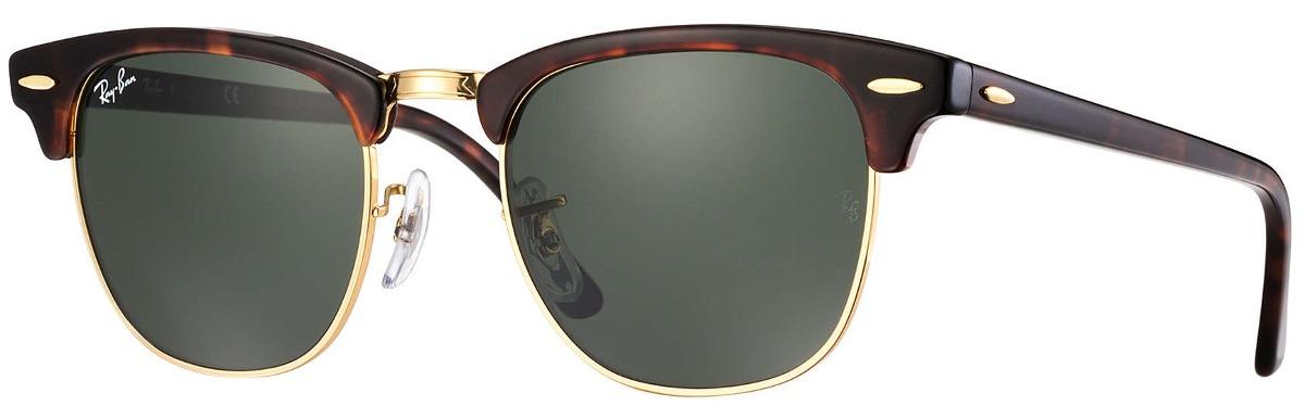 1686d1ed5a ... low cost lentes de sol ray ban clubmaster rb3016 w0366 verd café dor. cargando  zoom