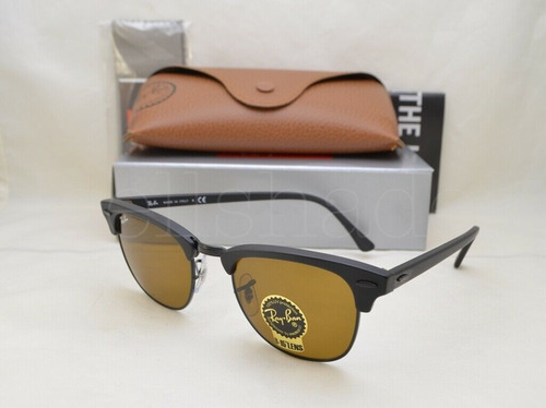 lentes de sol ray ban rb3016 clubmaster unisex original icon