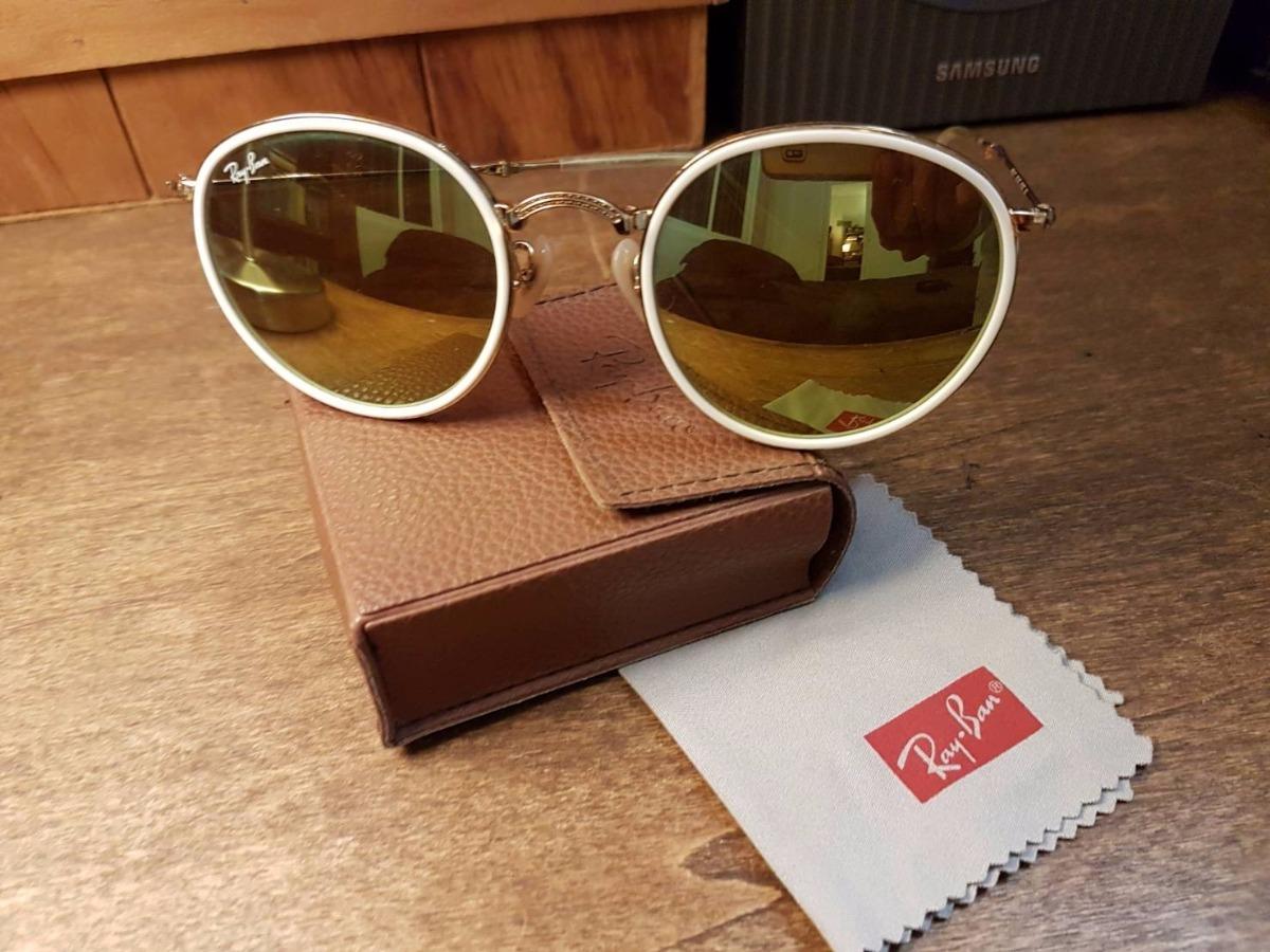 lentes de sol ray-ban round metal dorado blanco gafas retro. Cargando zoom. bbe4a622b1