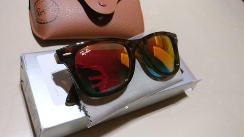 lentes de sol ray-ban wayfarer ease rb4340 50mm