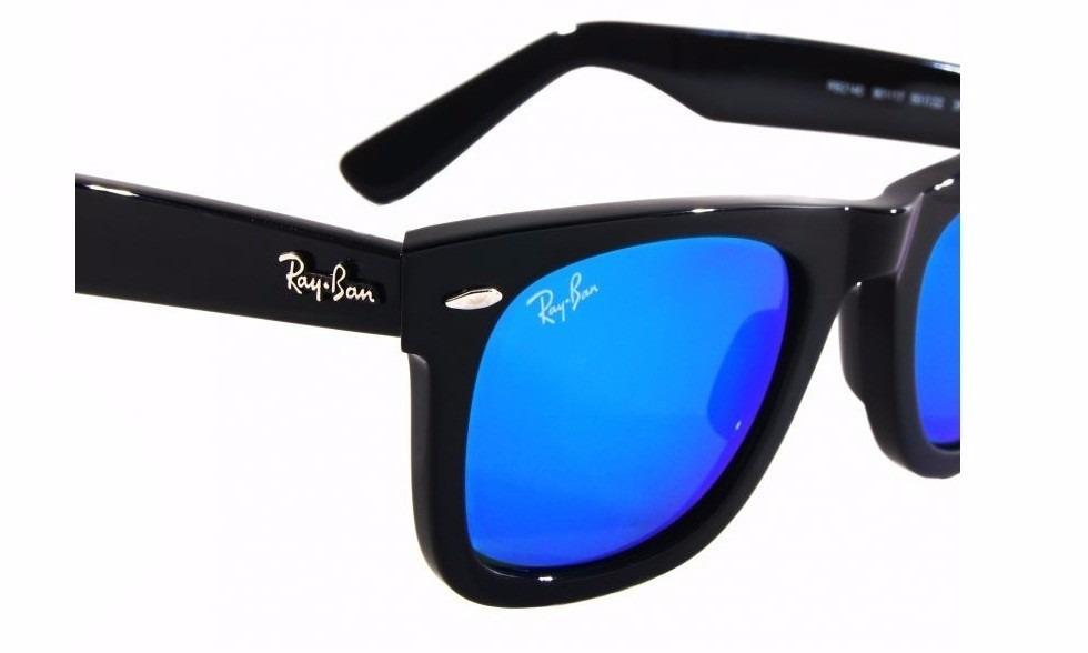 ray ban wayfarer azul espejado