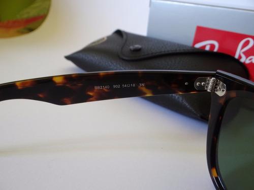 lentes de sol ray ban wayfarer tortoise 50 y 54mm originales