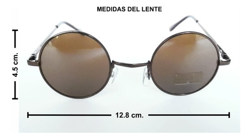 lentes de sol redondos uv 400 flex john lennon ozzy unisex