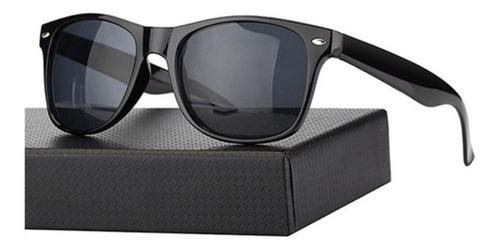 lentes de sol retro negros clasico negro