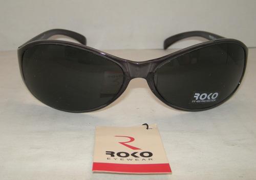 lentes de sol roko negros semitransparentes