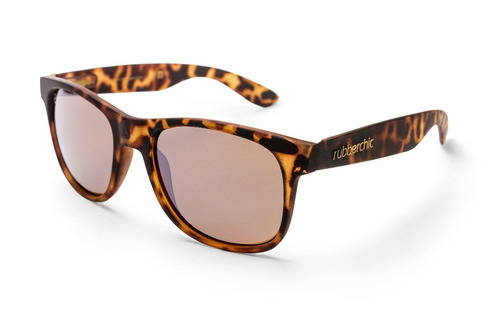 lentes de sol rubberchic - see you - soft brown polarizados