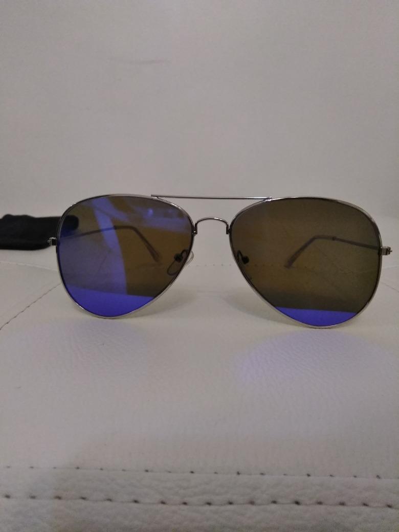 caa6bf1121 lentes de sol tipo espejo color azul marco plata unisex. Cargando zoom.
