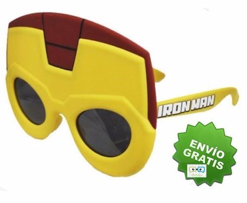 lentes de sol tipo mascara de iron man para niño marvel