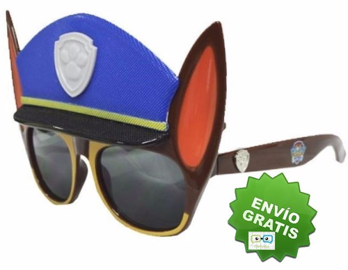 lentes de sol tipo mascara paw patrol para niño