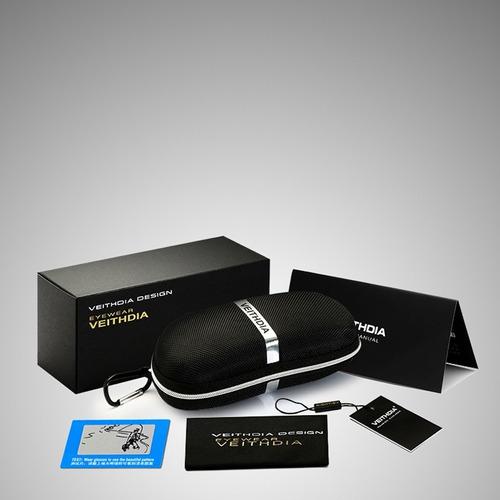 lentes de sol veithdia colores polarizado en caja 100%