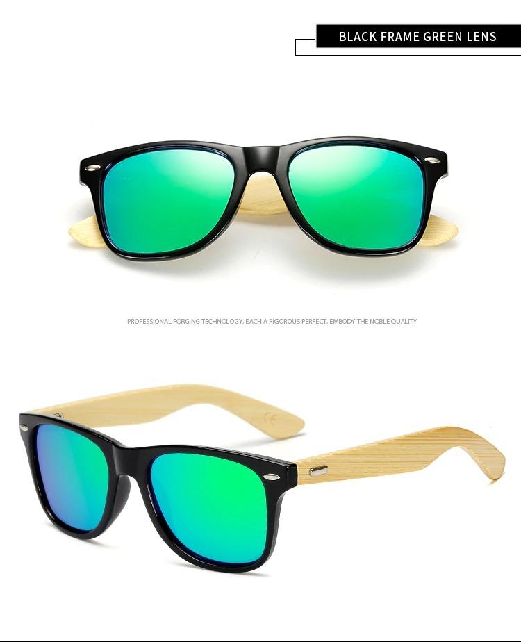lentes de sol verde bambú protección uv 400 polarizado+case. Cargando zoom. 57e0ea4ff6a0