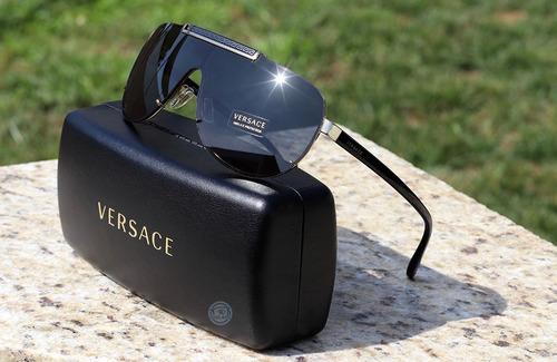 lentes de sol versace 2140 dos colores black gold / mirror