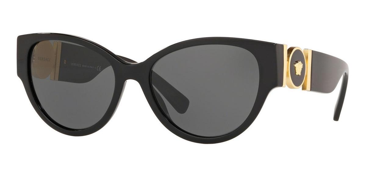 elegante en estilo bonita y colorida venta más barata Lentes De Sol Versace Negros De Mujer Ve4368 Gb1/87 Cat Eye