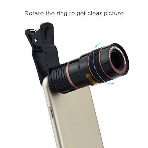 lentes de teléfono telefoto gertong óptico p/iphone samsung