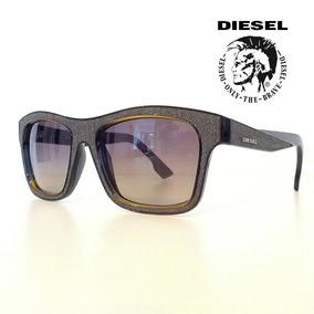 7dcf6fa53a Lentes Diesel Dl0071 20b Estilo Wayfarer Brow 100% Original