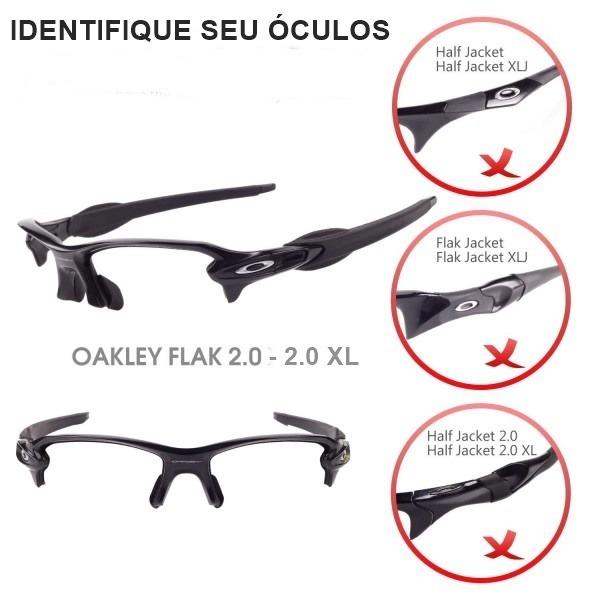 Lentes E Borrachas P Oakley Flak 2.0 Ou Flak 2.0 Xl + Brinde - R ... 15f76c5af0
