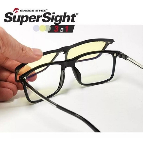 lentes eagle eyes supersight 3-1 graduables + noche + día