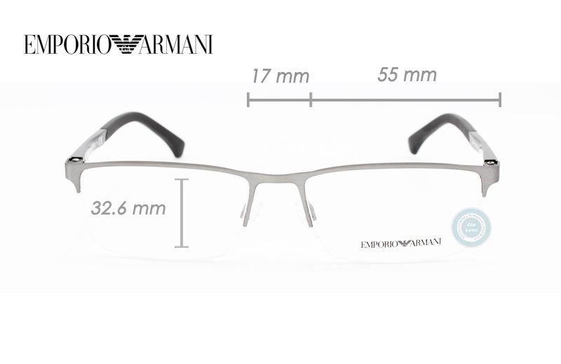 lentes emporio armani ea1041 3130 gunmetal rubber oftalmico. Cargando zoom. 69586cc6a8