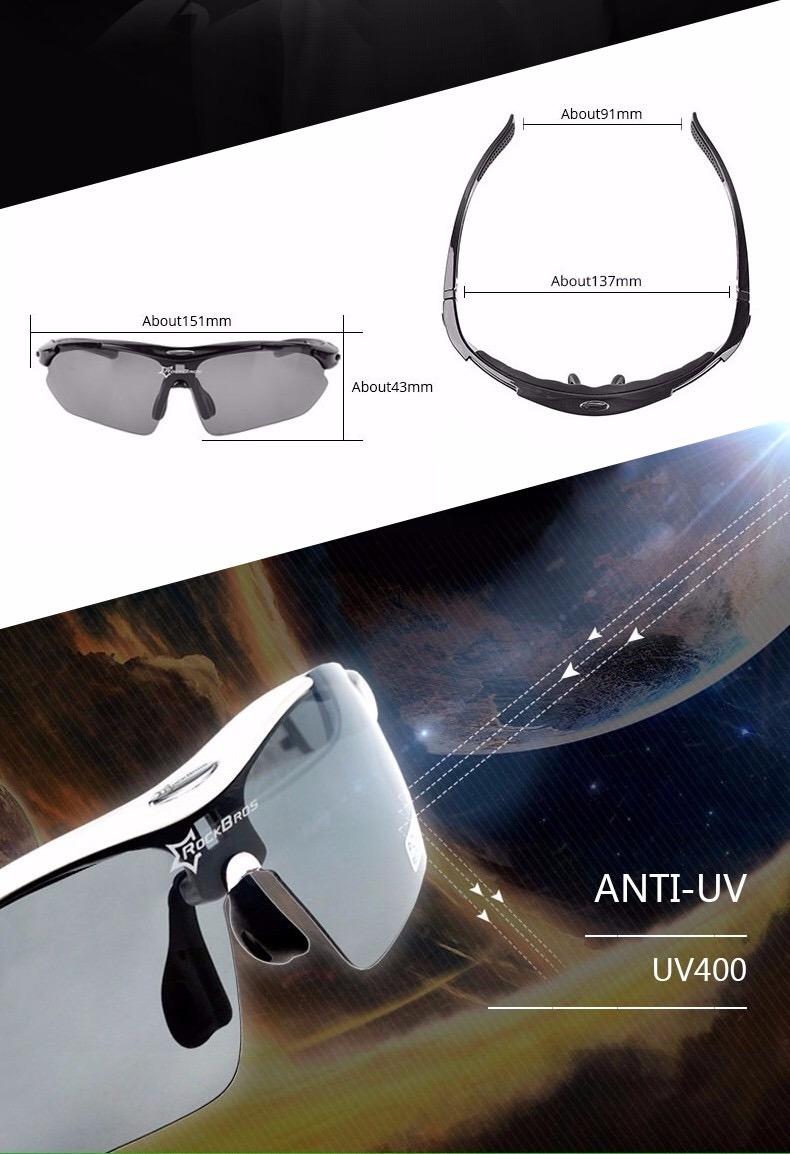 lentes fotocromáticos para ciclismo rockbros soporte miopía. Cargando zoom. 5e254b1b5a92