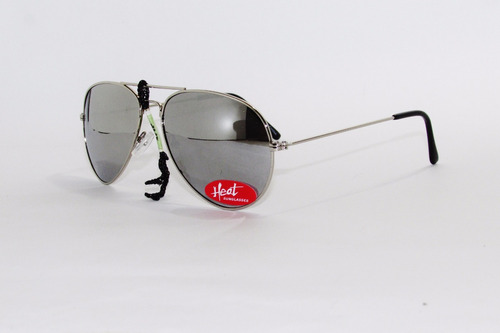 lentes, gafas, anteojo de sol espejado plateado - heat -