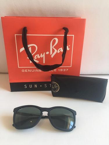 lentes gafas anteojos sol mujer hombre rayban negro clasico