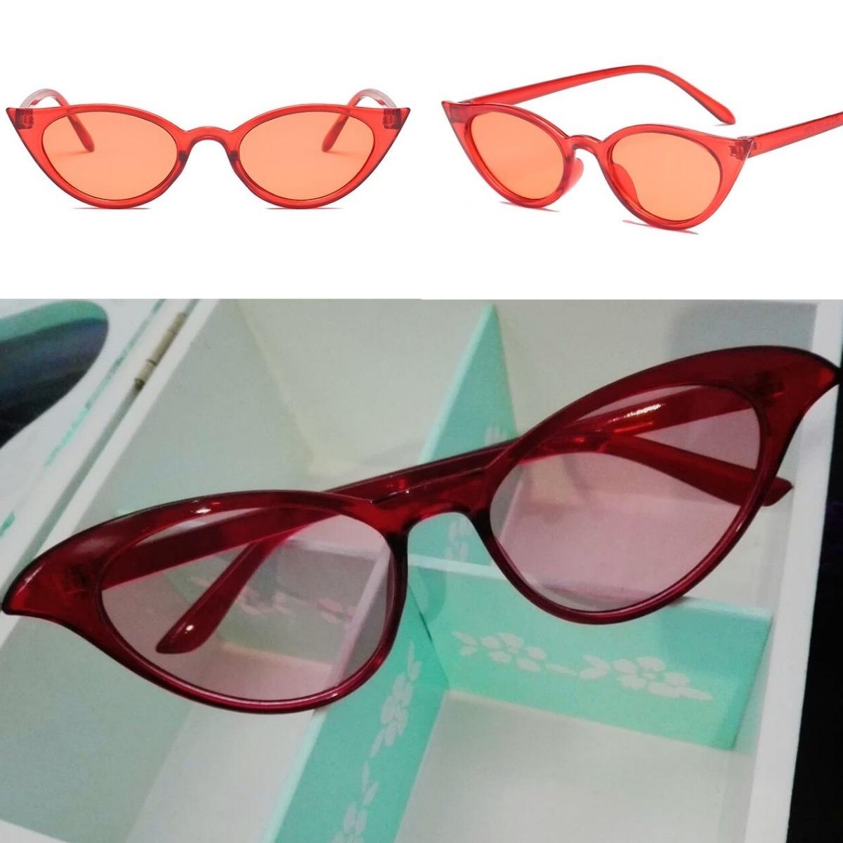 ca4d193282 lentes gafas anteojos sol mujer vintage retro cat eye rojo. Cargando zoom.