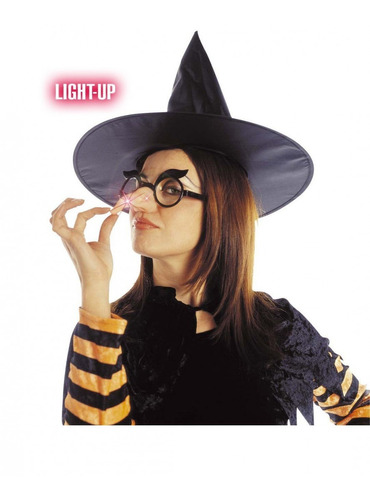 lentes gafas con nariz de bruja cotillon