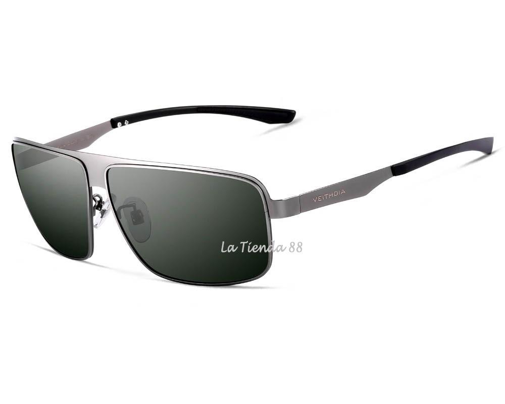 6662932e59 lentes gafas de sol hombre polarizado rectangular gris/negro. Cargando zoom.