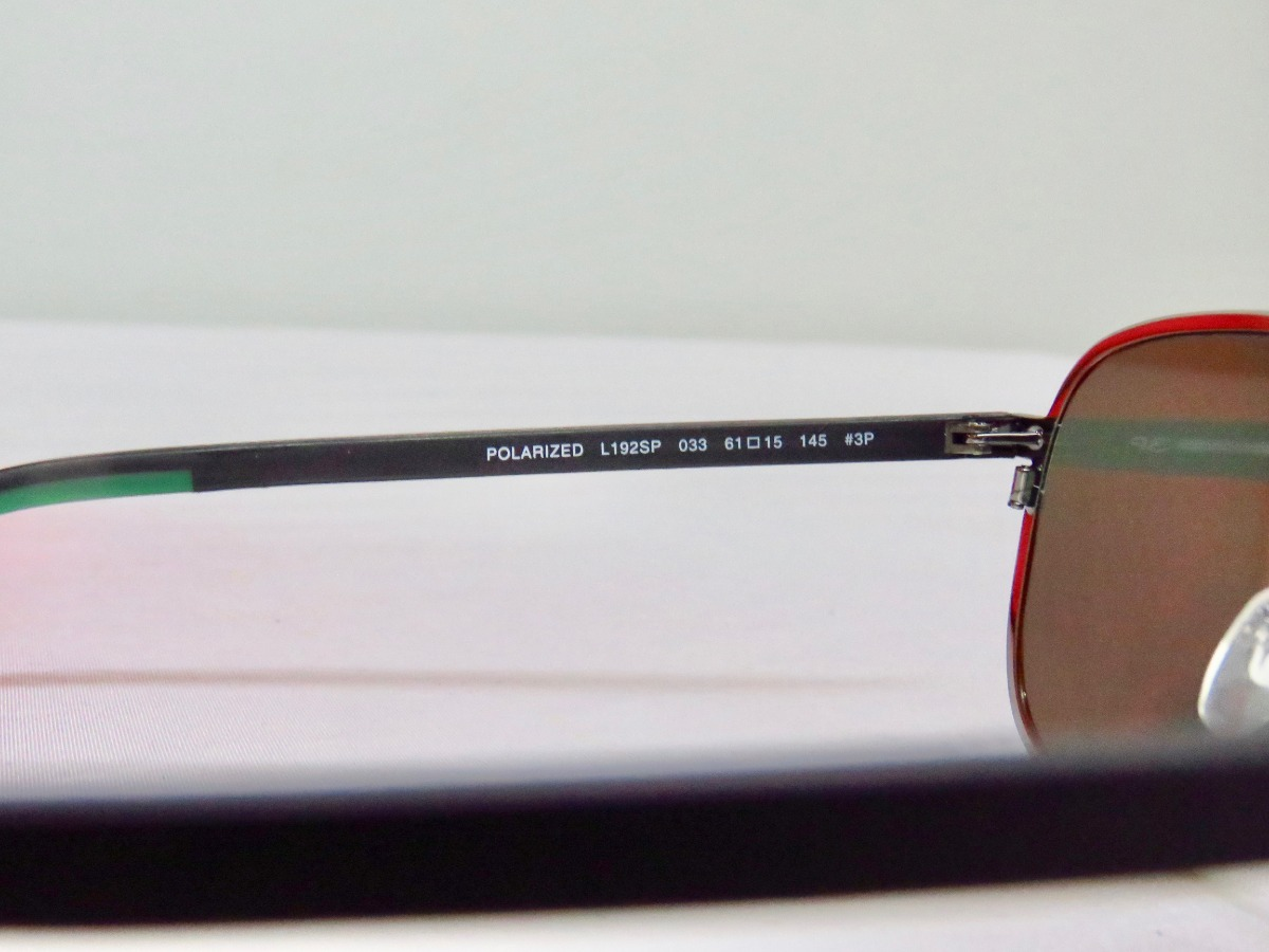 b25fc27637 lentes gafas de sol lacoste l192s shiny gunmetal polarizado. Cargando zoom.