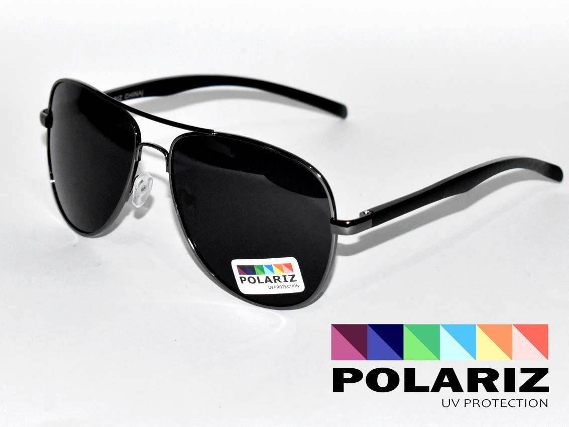 2192fdcf909d8 Lentes Gafas De Sol Polarizados Aviador Negras -   225.00 en Mercado ...