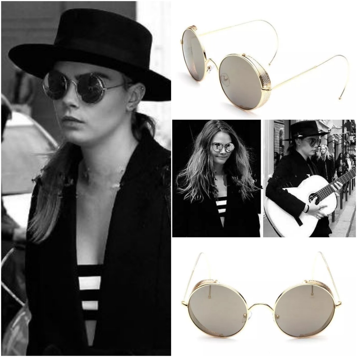 be9135d64a lentes gafas de sol redondos retro steampunk cola de ratón. Cargando zoom.