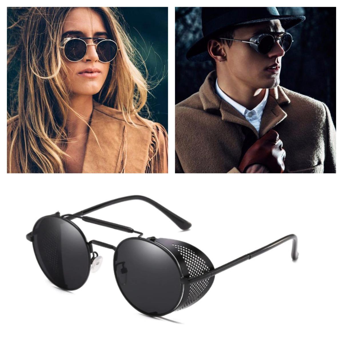 15c998a4cf lentes gafas de sol steampunk redondos negros matsuda metal. Cargando zoom.