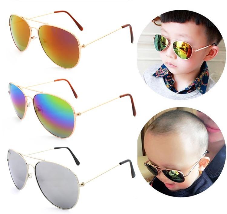 2c717136b4 Lentes Gafas Sol Aviador Tornasol Niño O Niña - $ 24.00 en Mercado Libre