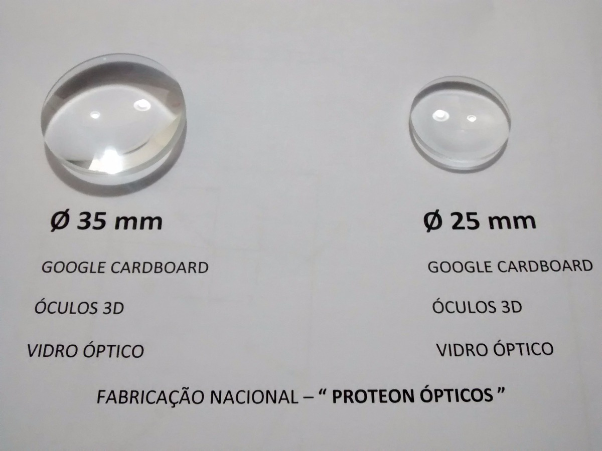 2e3037931 Lentes Google Vr Ø 35mm V 2.0 + Imãs Óculos Virtual Google - R$ 44 ...