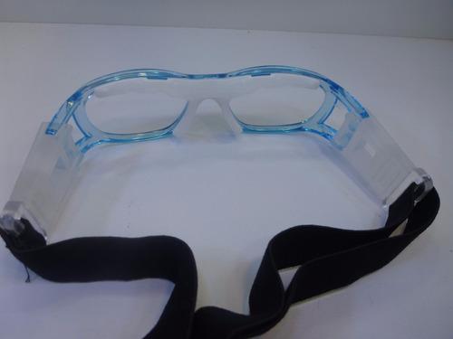 lentes graduables miopia goggle para niña color celeste