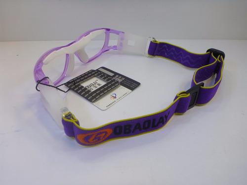 lentes graduables miopia goggle para niñas color barney lila
