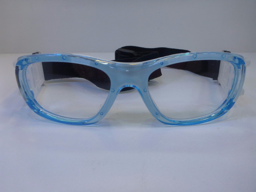 lentes graduables miopia goggle para niño color celeste