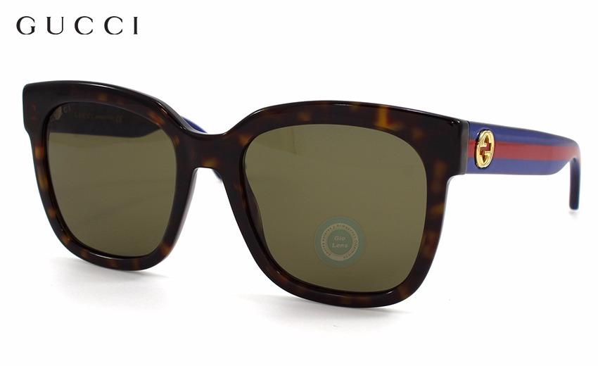 304063a8dc lentes gucci gg0034s 004 havana/blue/red - brown original. Cargando zoom.