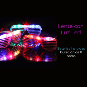 2a051faaff2b Lentes Luminosos Led Neón Glow Noche Animación Fiestas