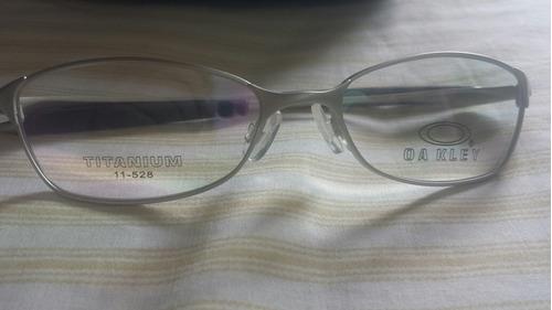 lentes, montura oakley titanium original.