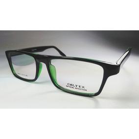 aa15604a99 Lentes Montura, Cuadradas Negro Verde (regalo Lunas C/medida