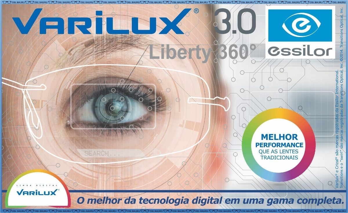 5fc979ab0d2e2 lentes multifocal varilux liberty 360 digital optifog. Carregando zoom.