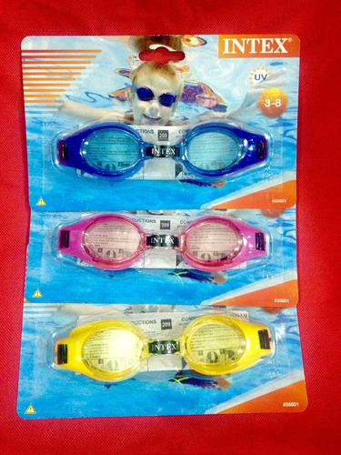 lentes natacion intex niños de 3 a 8 años