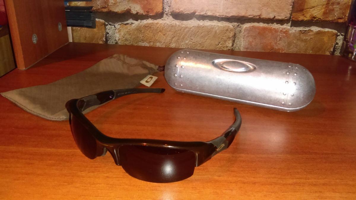 Lentes Oakley Flak Jacket Brown + Estuche Oakley De Metal ...