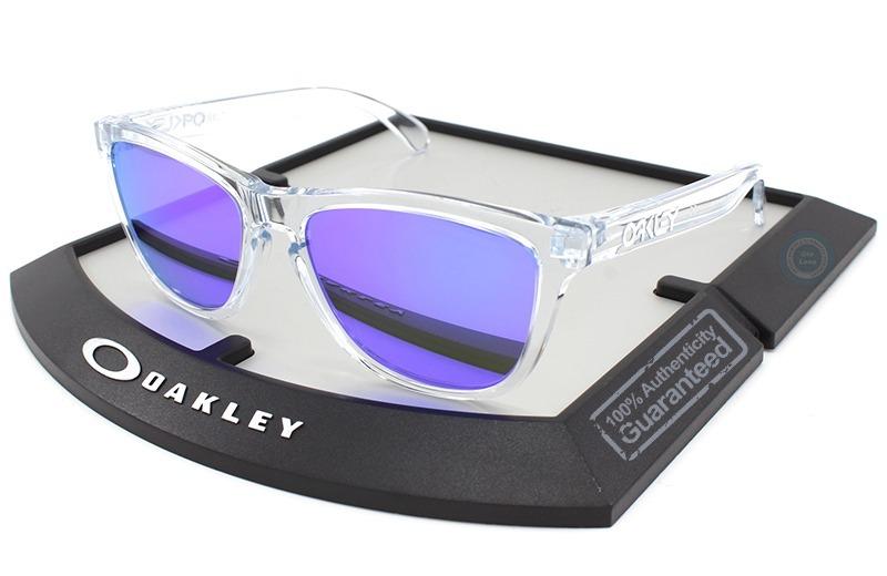 96c3f87c5 lentes oakley frogskins polished clear violet iridium nuevo. Cargando zoom.