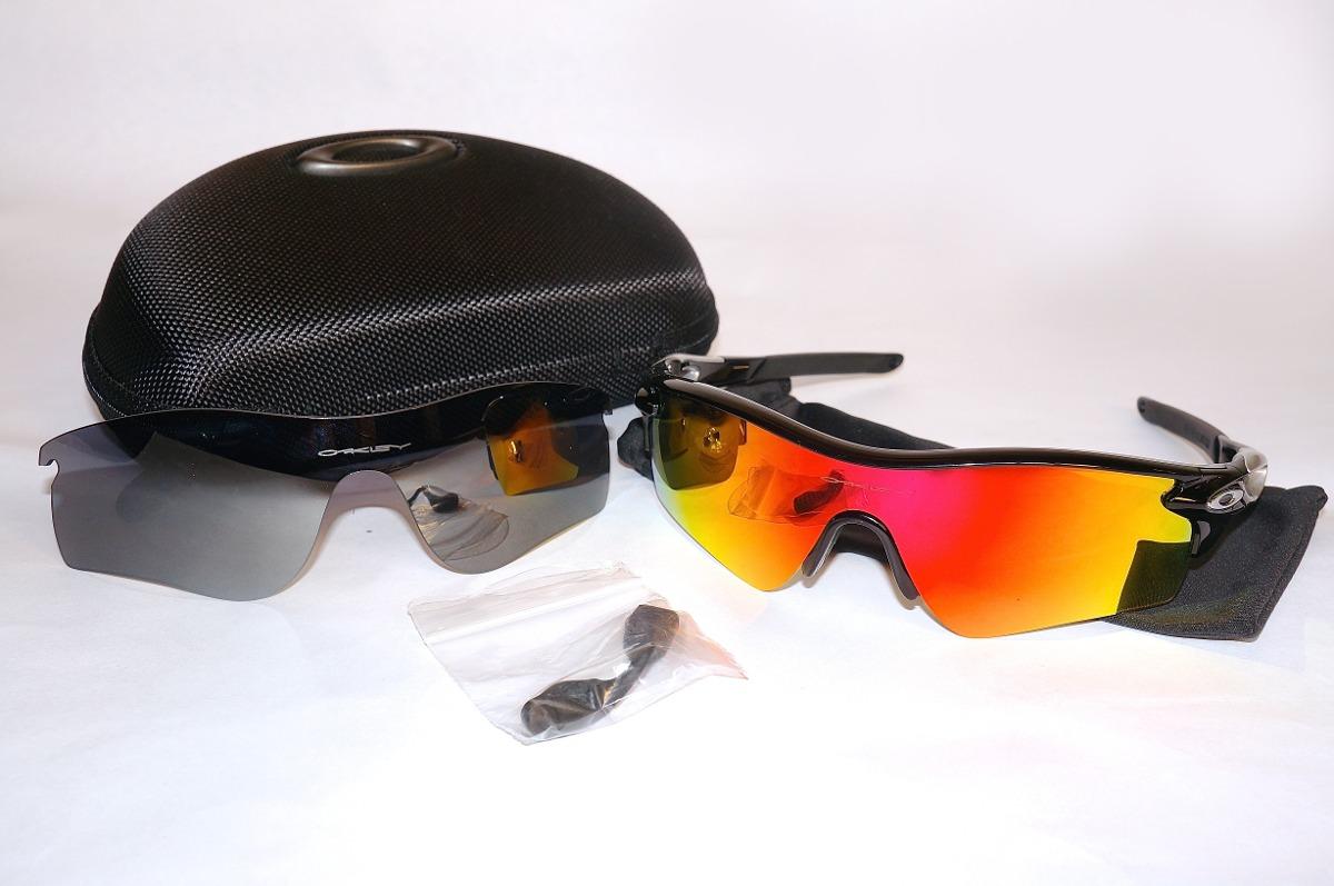 Lentes Oakley Radarlock Original! Con Cristales Fire Y Black - Bs ...