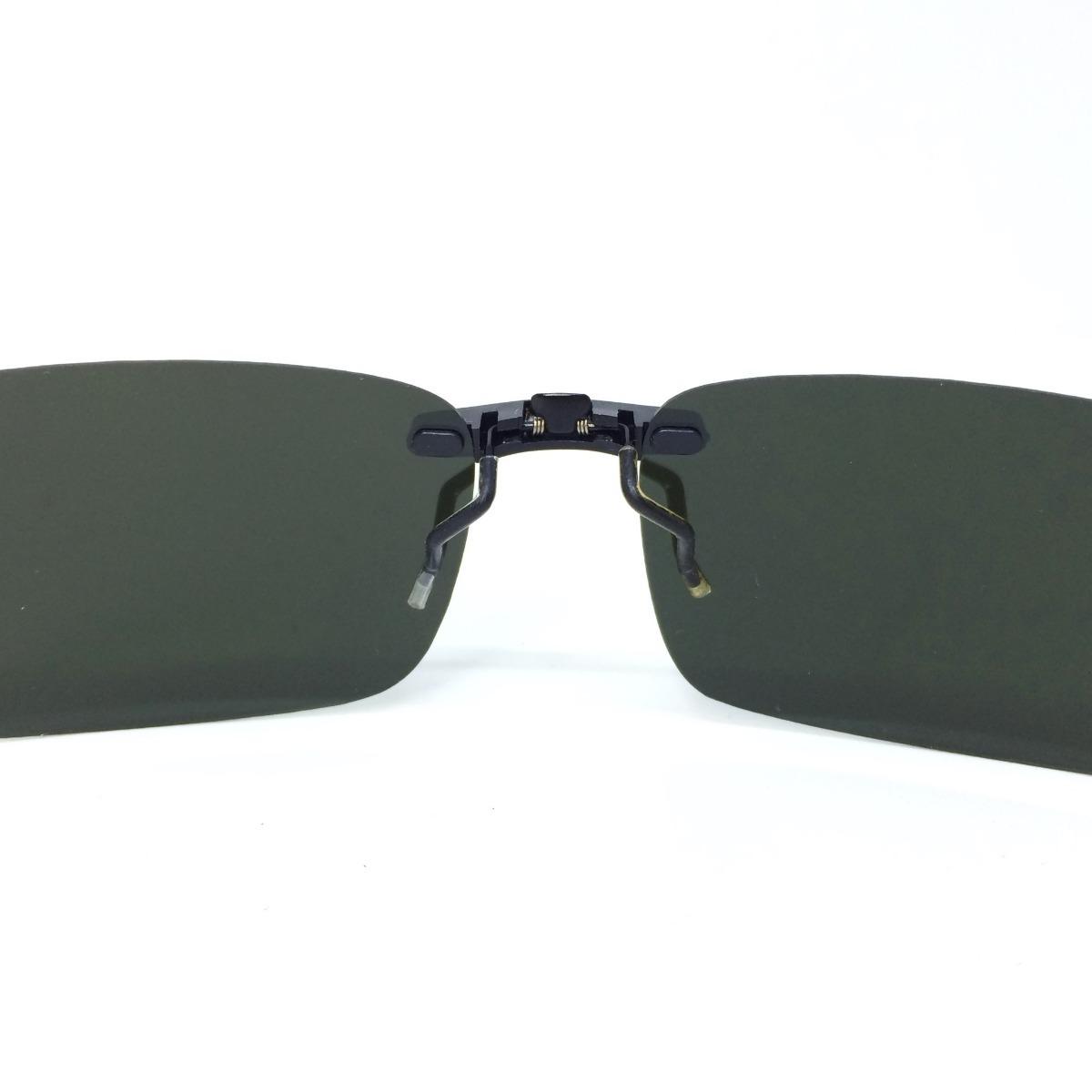 c80306367 lentes óculos clip on discreto polarizado proteção u v 400. Carregando zoom.