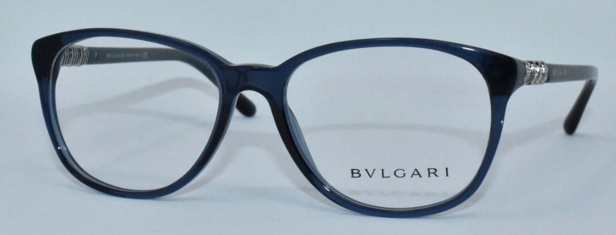 dc11a41e6c Lentes Oftalmicos Bvlgari Bv4103-b 5296 Blue 53-16-140 - $ 2,199.00 ...