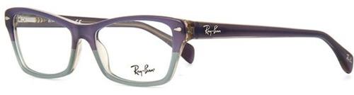 lentes oftálmicos ray ban  rb 5256 5107 violeta y gris