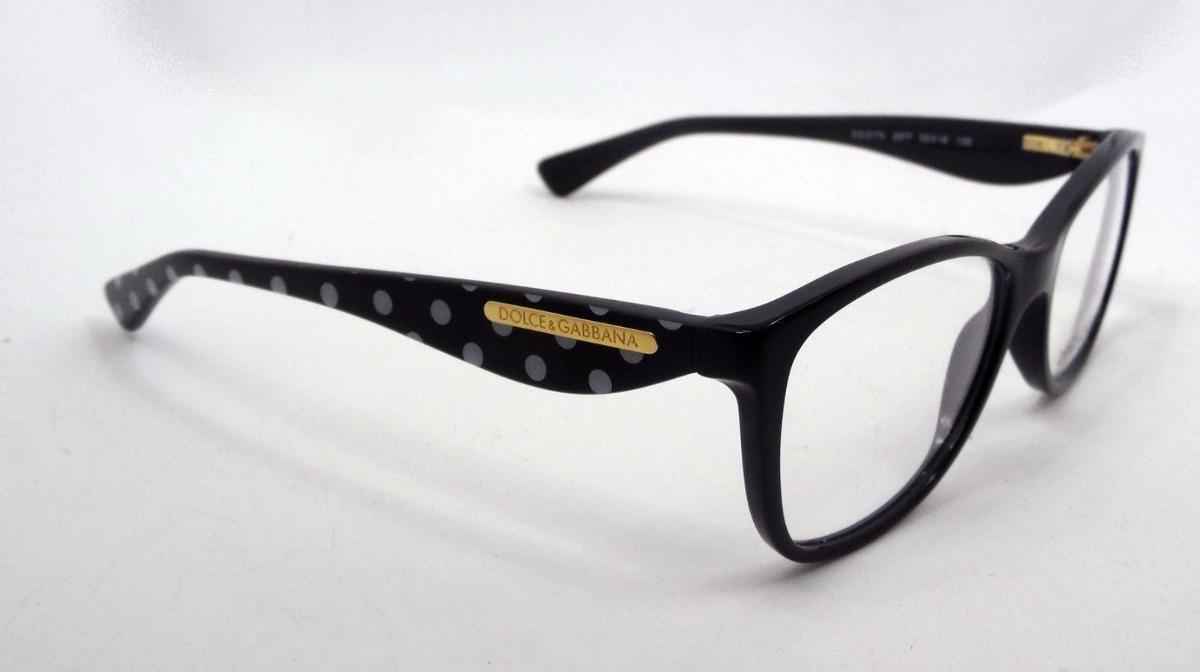 Lentes Ópticos Dolce & Gabbana Dg3174 Gold Leaf Black Dots M ...